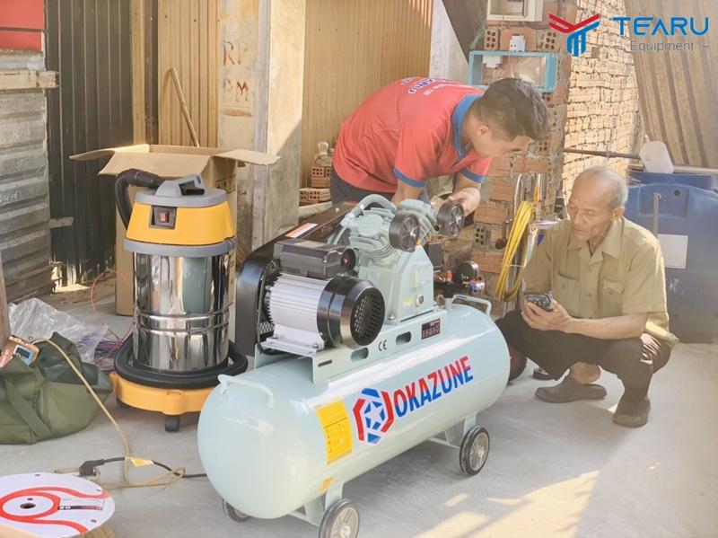 Máy nén khí OKAZUNE cho trạm rửa xe hơi