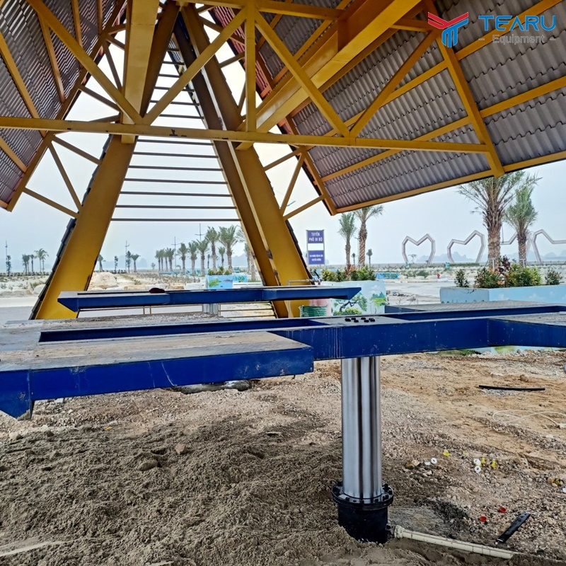 Lắp 2 cầu nâng