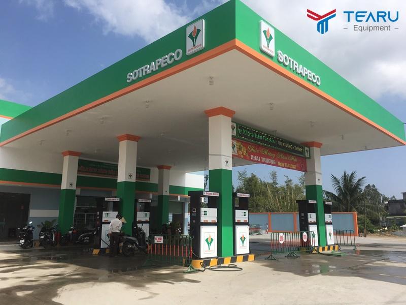 Lắp đặt tiệm rửa xe kết hợp cây xăng cho anh Vương ở Quảng Ngãi