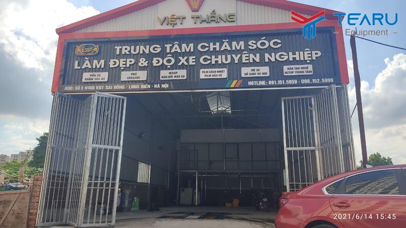 Hoàn thành lắp đặt thiết bị rửa xe cho anh Lượng ở Long Biên - Hà Nội