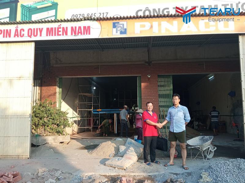 Lắp đặt trạm rửa xe cho anh Hữu ở Xuân Trường - Nam Định