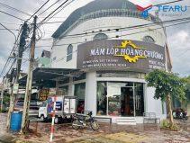 Hoàn thiện lắp đặt cửa hàng làm mâm lốp Hoàng Chương ở Hoài Ân - Bình Định
