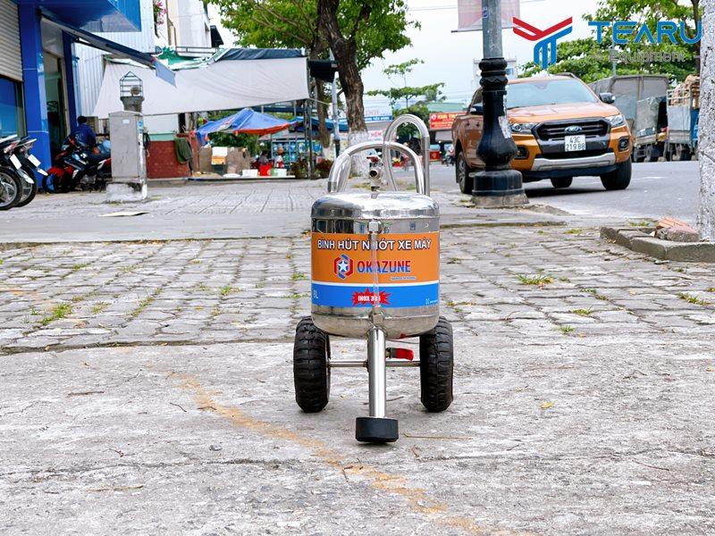 Máy hút nhớt xe máy Inox Okazune 8 Lít